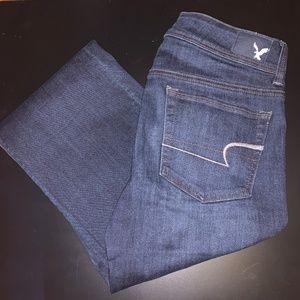 AE Dark Wash Denim Boot Cut Jeans (Size 6 Regular)